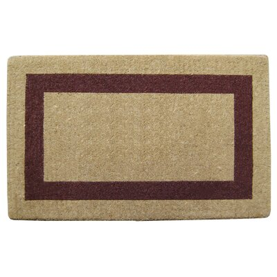 Single Picture Frame Doormat Rug Size: 22 H x 36 W x 1.5 D, Color: Brown
