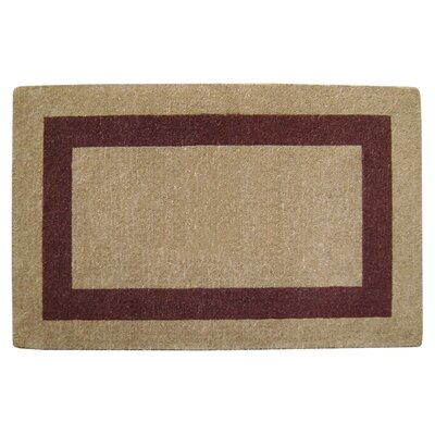 Single Picture Frame Doormat Color: Brown, Rug Size: 30 H x 48 W x 1.5 D