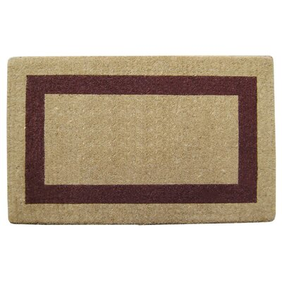 Single Picture Frame Doormat Color: Brown, Rug Size: 38 H x 60 W x 1.5 D