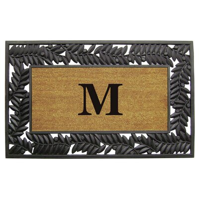 Olive Border Personalized Monogrammed Doormat