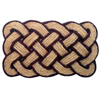 Melaney Lovers Knot Doormat Rug Size: 1 10 H x 3 W x 1 D, Color: Brown/Natural