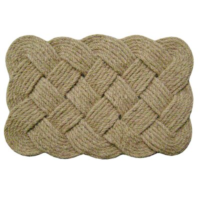 Melaney Lovers Knot Doormat Mat Size: 1 10 H x 3 W x 1 D, Color: Natural