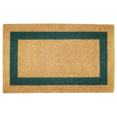 Single Picture Frame Doormat Rug Size: 22 H x 36 W x 1.5 D, Color: Green
