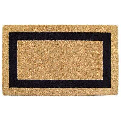 Single Picture Frame Doormat Rug Size: 22 H x 36 W x 1.5 D, Color: Blue