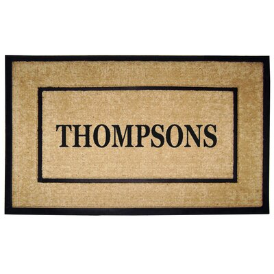 Rubber Coir Personalized Frame Door Mat Rug Size: 26 x 4