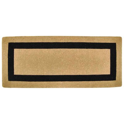 Single Picture Frame Doormat Rug Size: 24 H x 57 W x 1.5 D, Color: Black
