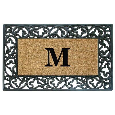 Acanthus Border Personalized Monogrammed Doormat