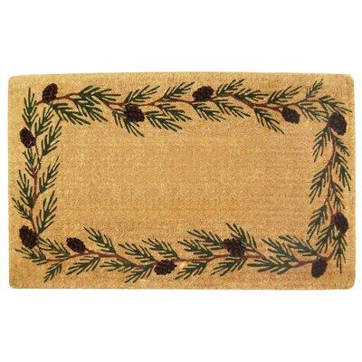 Evergreen Border Doormat Rug Size: 30 H x 48 W x 1 D
