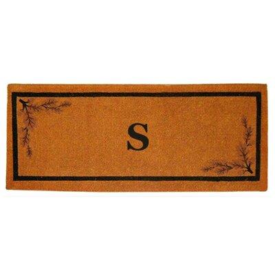 Acorn Border Personalized Monogrammed Doormat