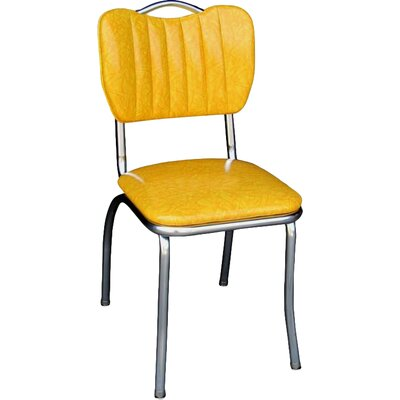 Retro Home Side Chair Upholstery: Cracked Ice Yellow