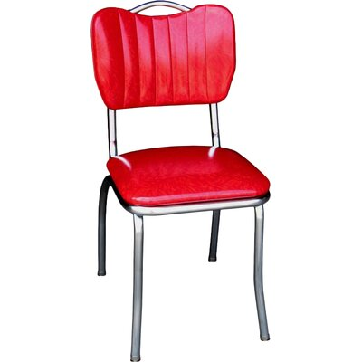 Retro Home Side Chair Upholstery: Cracked Ice Red