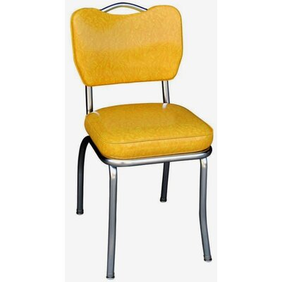Retro Home Side Chair Upholstery: Yellow