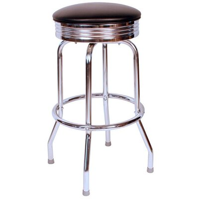 Retro Home 30 inch Swivel Bar Stool Upholstery: Black