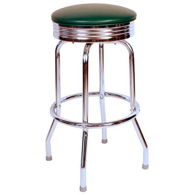 Retro Home 24 Swivel Bar Stool Upholstery: Green