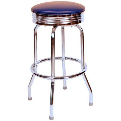 Retro Home 24 Swivel Bar Stool Upholstery: Blue