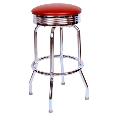 Retro Home 24 Swivel Bar Stool Upholstery: Wine