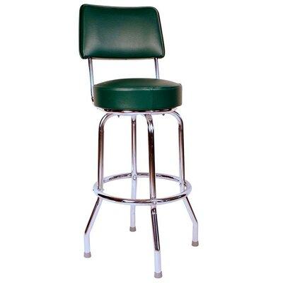 Retro Home 30 inch Swivel Bar Stool Upholstery: Green