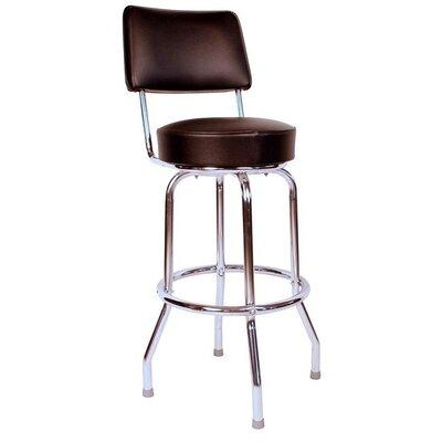 Retro Home 30 inch Swivel Bar Stool Upholstery: Black