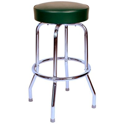 Retro Home 30 inch Swivel Bar Stool Upholstery: Green