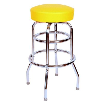 Retro Home 30 Swivel Bar Stool Color: Yellow