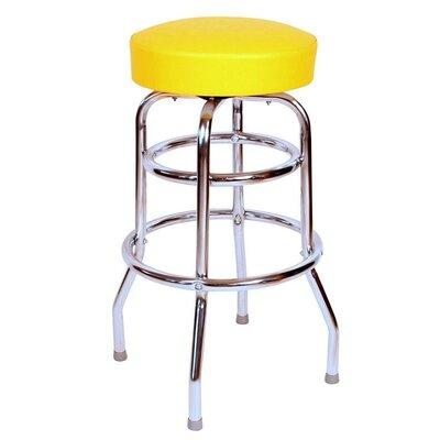 Retro Home 30 Swivel Bar Stool Upholstery: Yellow