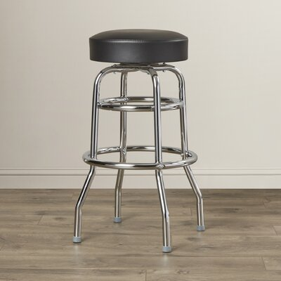 Retro Home 30 Swivel Bar Stool Upholstery: Black