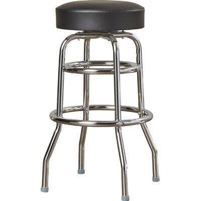 Retro Home 30 Swivel Bar Stool Color: Black
