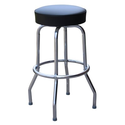 Retro Home 24 Swivel Bar Stool Upholstery: Black