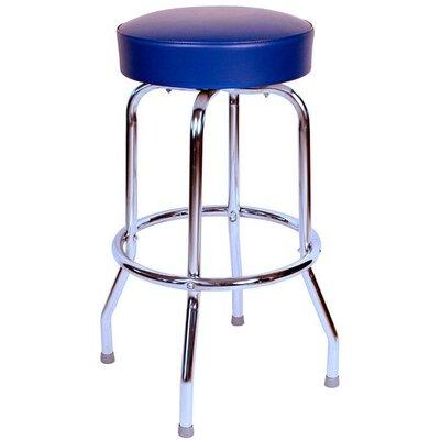 Retro Home 24 inch Swivel Bar Stool Upholstery: Blue