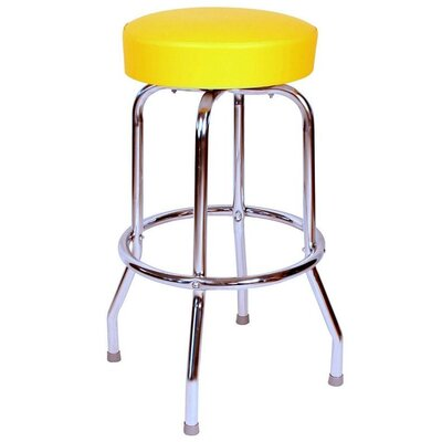 Retro Home 24 Swivel Bar Stool Upholstery: Yellow