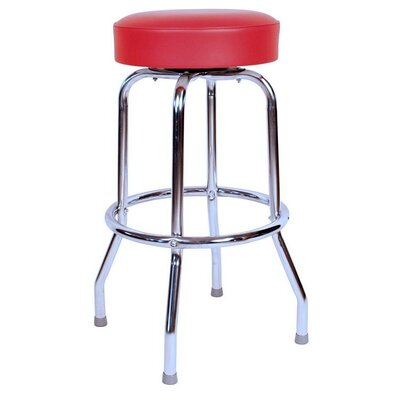 Retro Home 24 Swivel Bar Stool Upholstery: Red