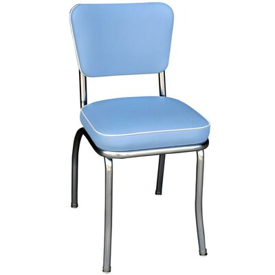 Retro Home Side Chair Upholstery: Bristol Blue