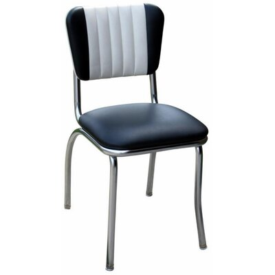 Retro Home Side Chair Upholstery: Black