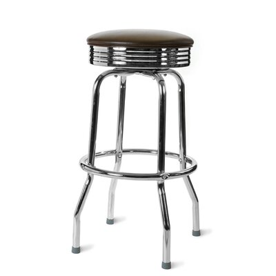 Retro Home 30 Swivel Bar Stool Color: Brown