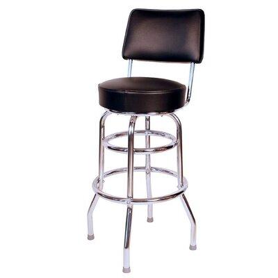 Retro Home 30 Swivel Bar Stool Color: Black