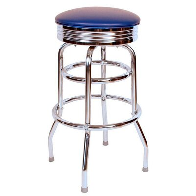 Retro Home 30 Swivel Bar Stool Color: Blue