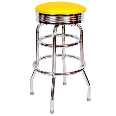 Retro Home 30 Swivel Bar Stool Color: Yellow
