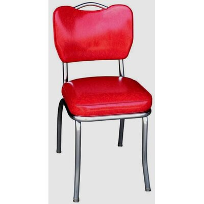 Retro Home Side Chair Upholstery: Red