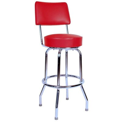 Retro Home 30 Swivel Bar Stool Color: Red