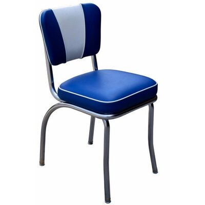 Retro Home Side Chair Upholstery: Royal Blue
