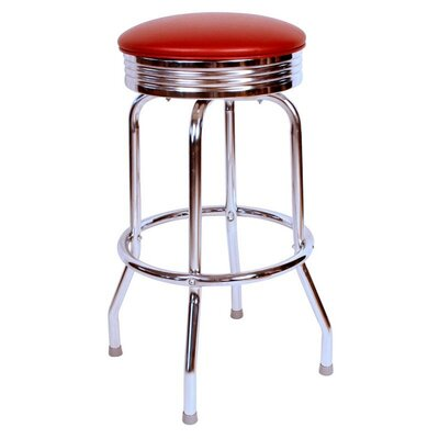 Retro Home 30 Swivel Bar Stool Color: Wine