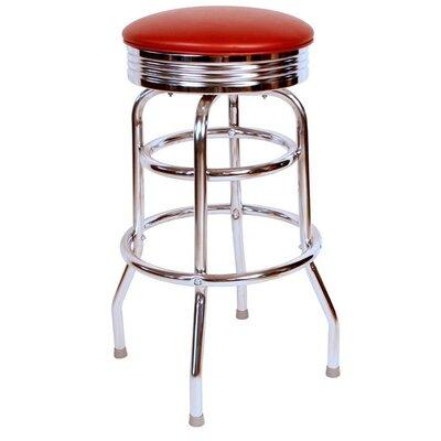 Retro Home 30 Swivel Bar Stool Upholstery: Wine