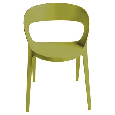 Carla Barrel Chair (Set of 2) Color: Olive Green