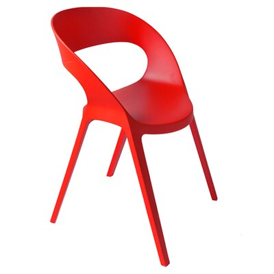 Carla Barrel Chair (Set of 2) Color: Red