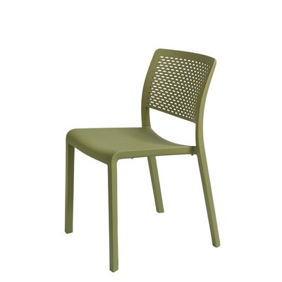 Trama Side Chair (Set of 2) Finish: Green Olive