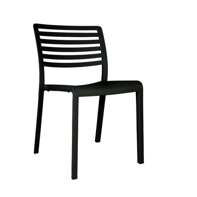 Carpentier Side Chair (Set of 2) Finish: Black