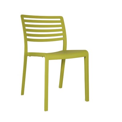 Lama Side Chair (Set of 2) Finish: Olive Green