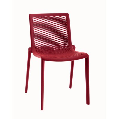 Netkat Side Chair (Set of 2) Finish: Red