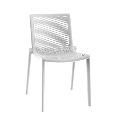 Netkat Side Chair (Set of 2) Finish: White