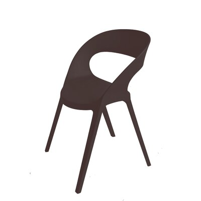 Adriell Barrel Chair (Set of 2) Finish: Black